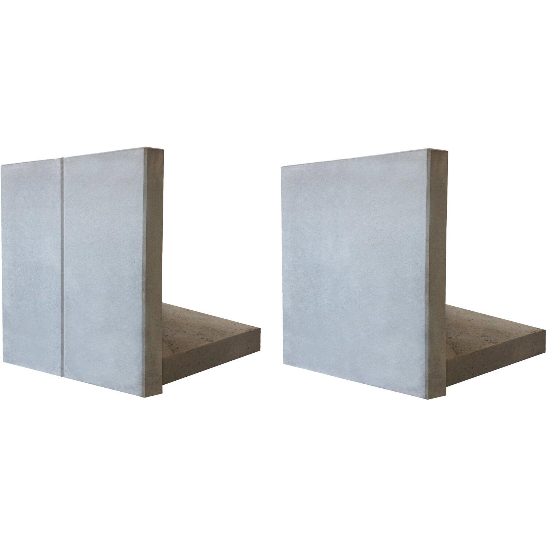 mauerscheibe betonglatt grau 105 cm x 100 cm x 65 cm. Black Bedroom Furniture Sets. Home Design Ideas