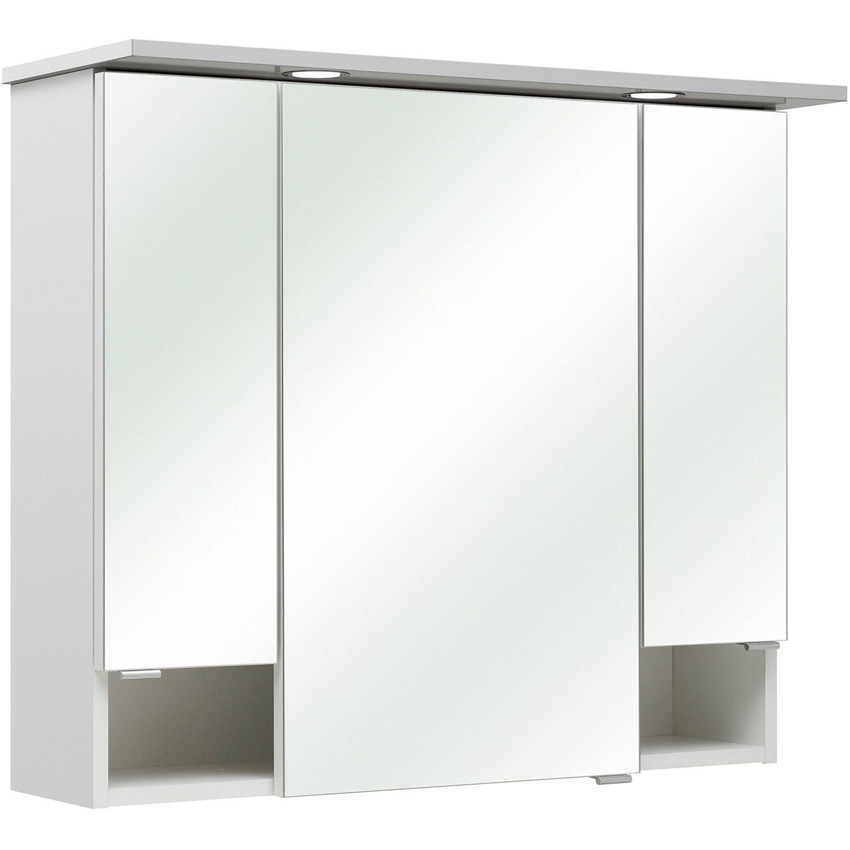 Häufig Pelipal Spiegelschrank 80 cm Pia II Weiß Glanz EEK: A++ kaufen bei OBI ZV51