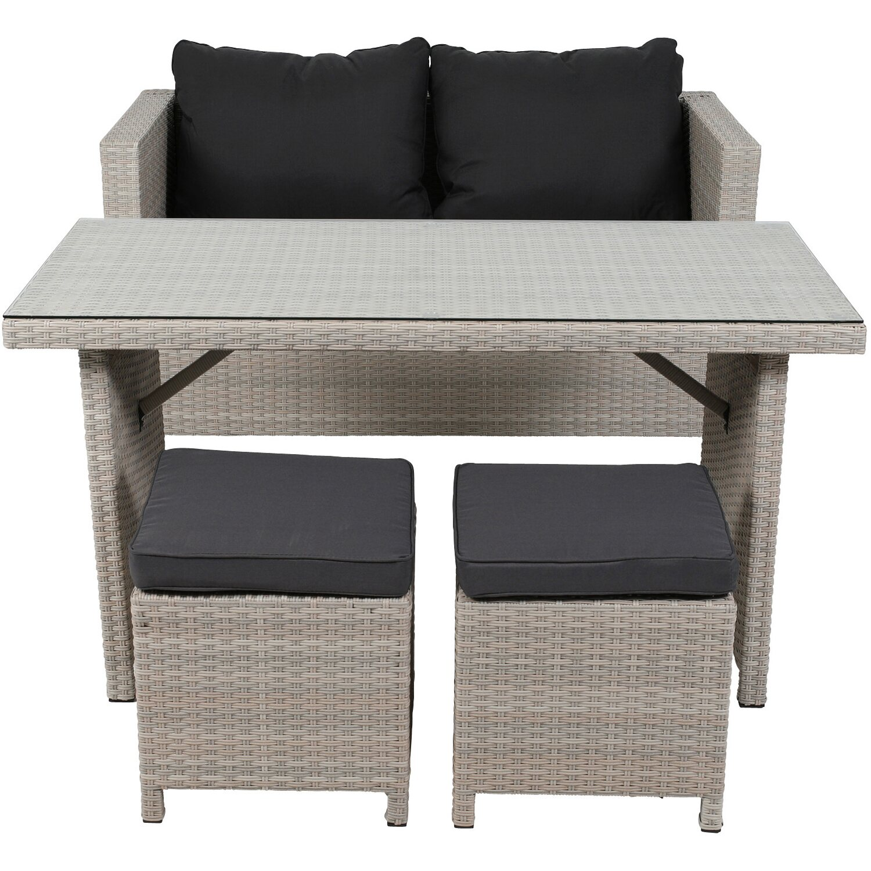 Gartenlounge   Greemotion Garten-Lounge Set Kiel Polyrattan Beige 4-teilig kaufen ...