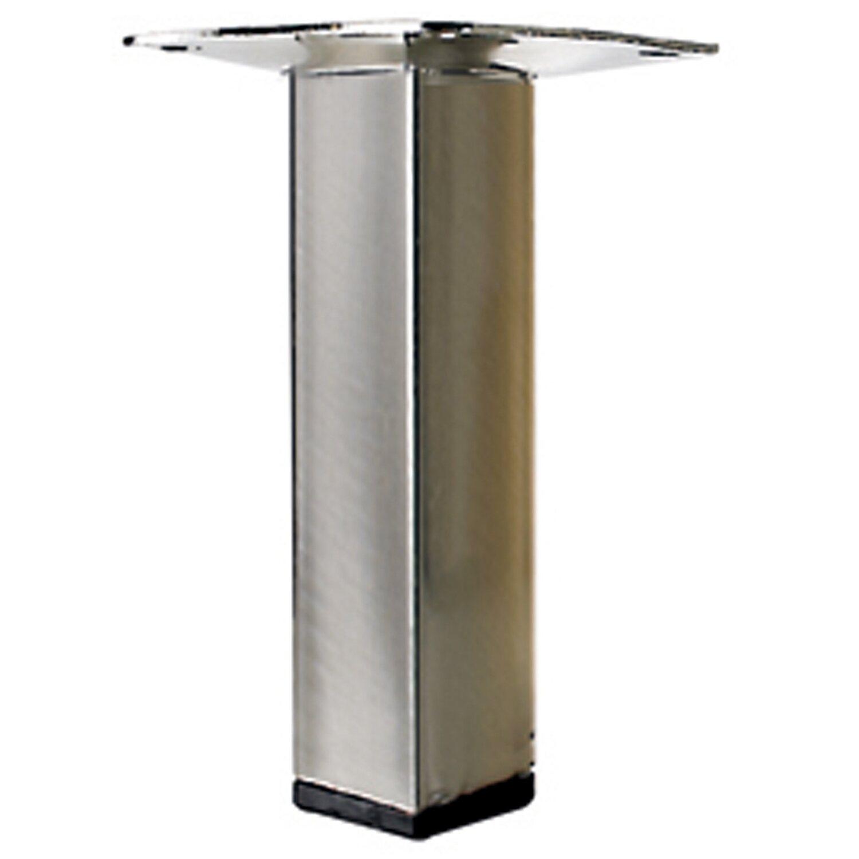 Hettich Tischbein 25 mm x 25 mm x 100 mm Edelstahl-Optik | Wohnzimmer > Tische > Weitere Tische | Hettich