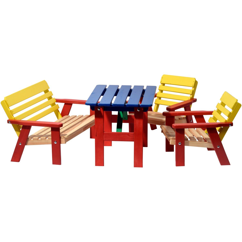 Dobar Kindersitzgarnitur 4 Teilig Mit Kindertisch Mehrfarbig Kaufen