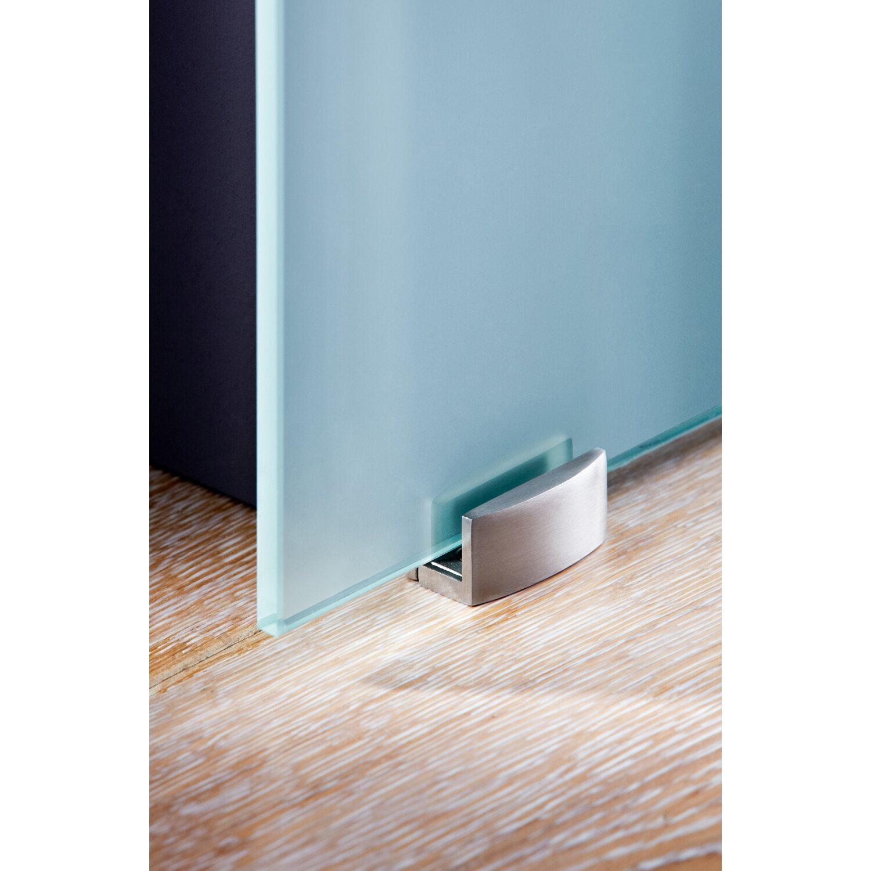 Obi Glasschiebetur Gelo Offenes System Weiss Blickdicht 90 Cm X 205 Cm