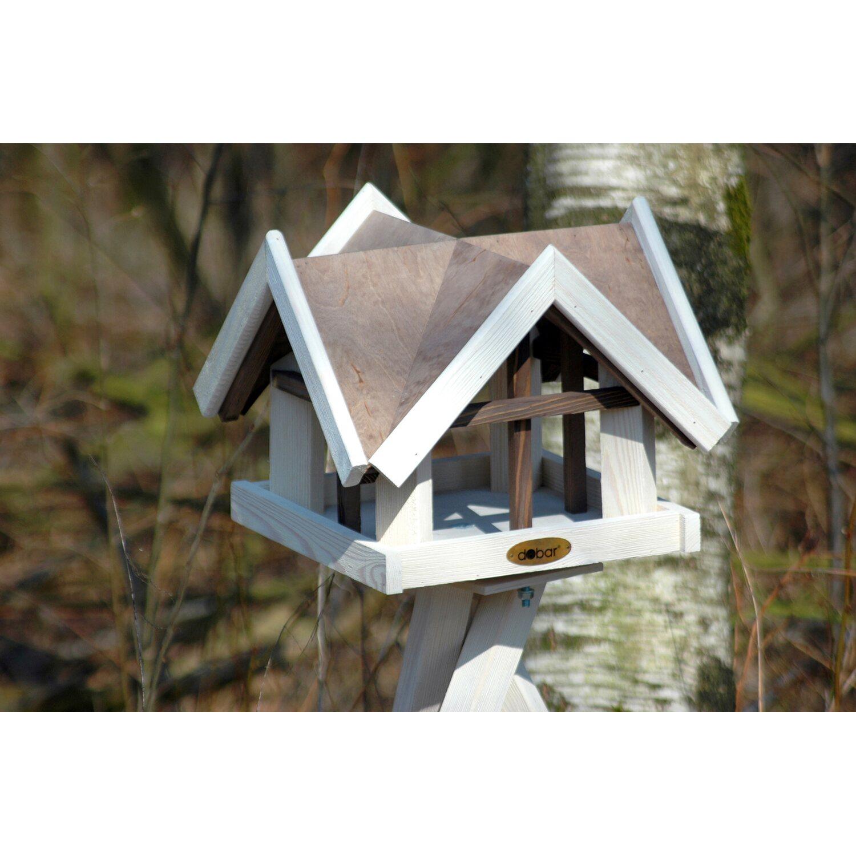 dobar vogelhaus mit antikfinish 37 x 37 x 43 cm braun wei. Black Bedroom Furniture Sets. Home Design Ideas