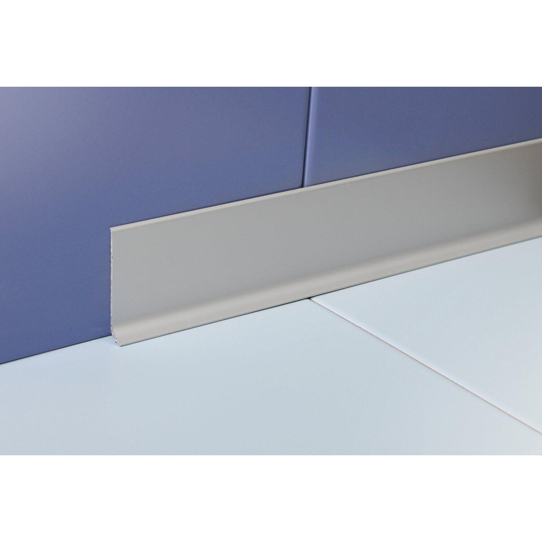 Sockelleiste Aluminium eloxiert Silber matt 10 mm x 10 mm Länge 10 m