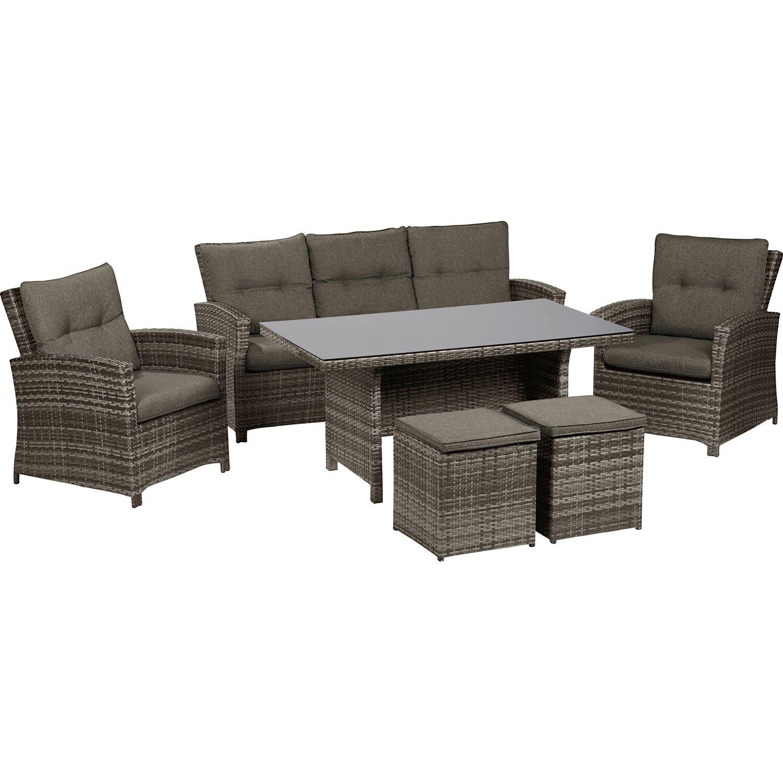 obi esstisch lounge gruppe vermont shadow earth 6 teilig kaufen bei obi. Black Bedroom Furniture Sets. Home Design Ideas