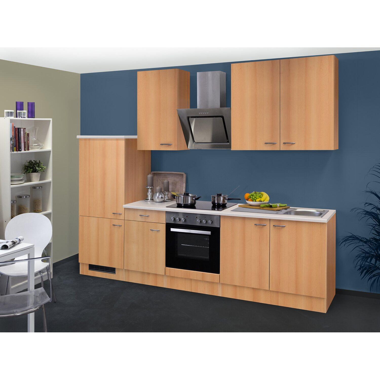 Flex-Well Classic Küchenzeile/Küchenblock Nano 270 cm Buche Nachbildung Preisvergleich