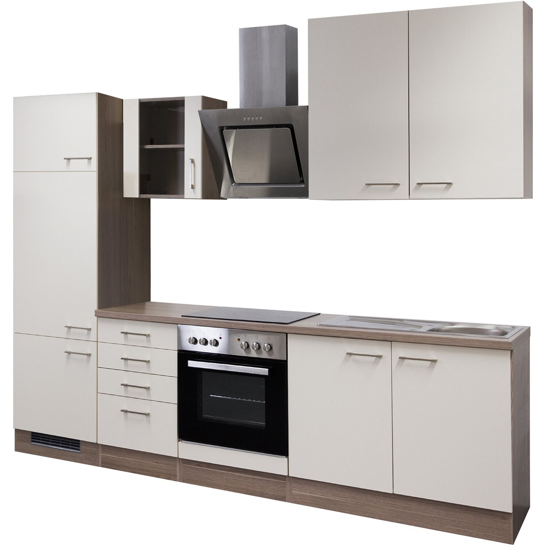 flex well exclusiv k chenzeile eico 270 cm magnolienwei tennessee eiche kaufen bei obi. Black Bedroom Furniture Sets. Home Design Ideas