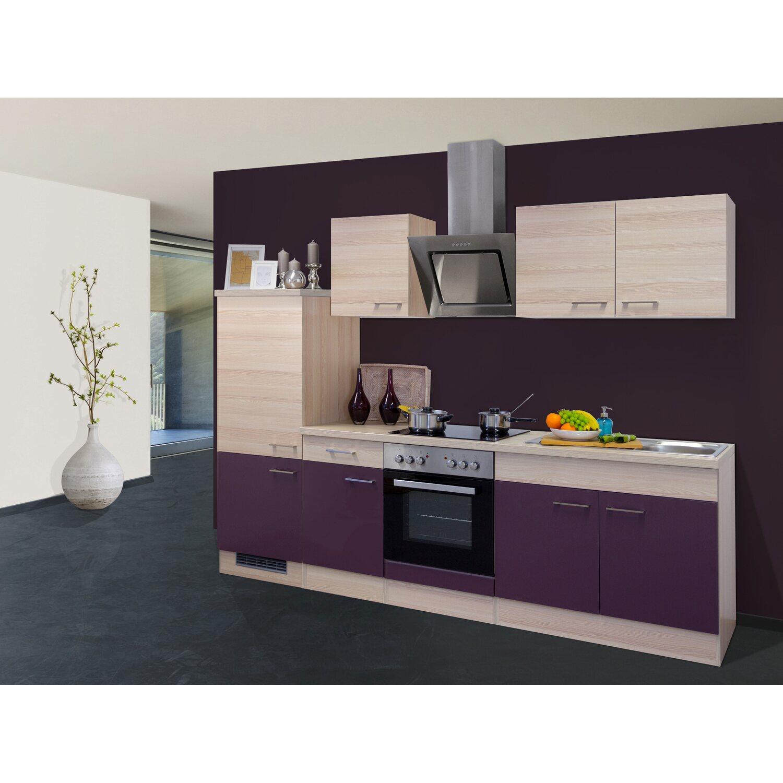 flex well exclusiv k chenzeile focus 270 cm akazie aubergine kaufen bei obi. Black Bedroom Furniture Sets. Home Design Ideas