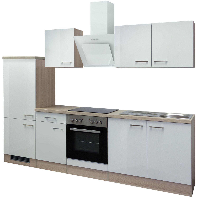flex well exclusiv k chenzeile abaco 270 cm perlmutt gl nzend akazie nachbildung kaufen bei obi. Black Bedroom Furniture Sets. Home Design Ideas