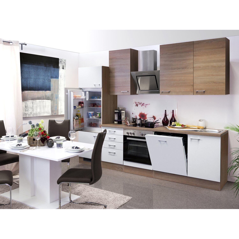 flex well classic k chenzeile florida 280 cm sonoma eiche wei sonoma eiche kaufen bei obi. Black Bedroom Furniture Sets. Home Design Ideas