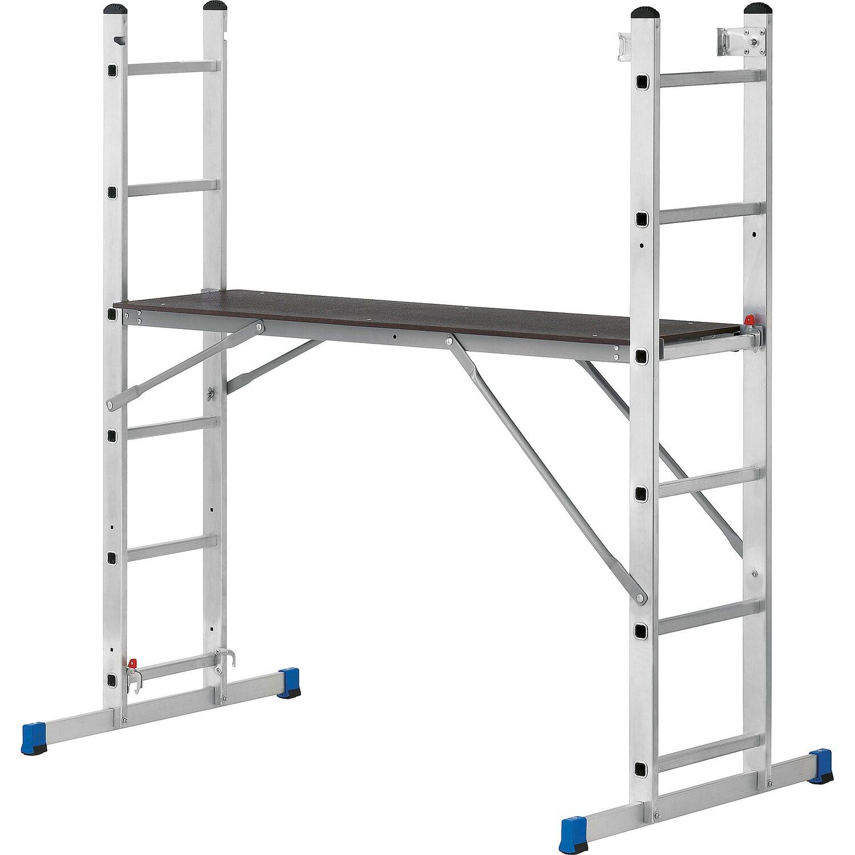 aluminium arbeitsgerüst und leiternkombination 150 kg tragkraft