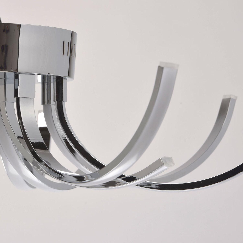 RegenBogen LED-Deckenleuchte Aurich 12-flammig 40 W Chrom EEK: A-A++ ...
