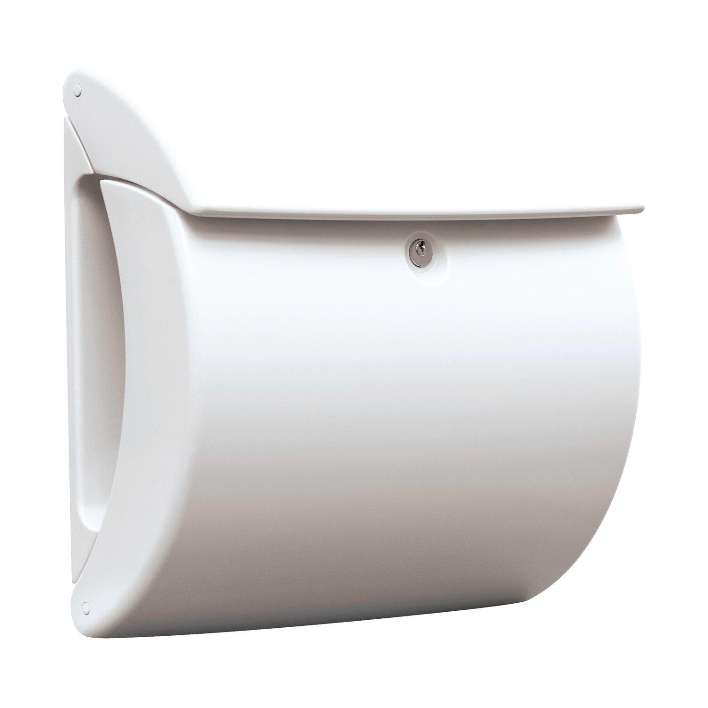 218616_2 Erstaunlich Briefkasten Weiß Mit Zeitungsrolle Dekorationen