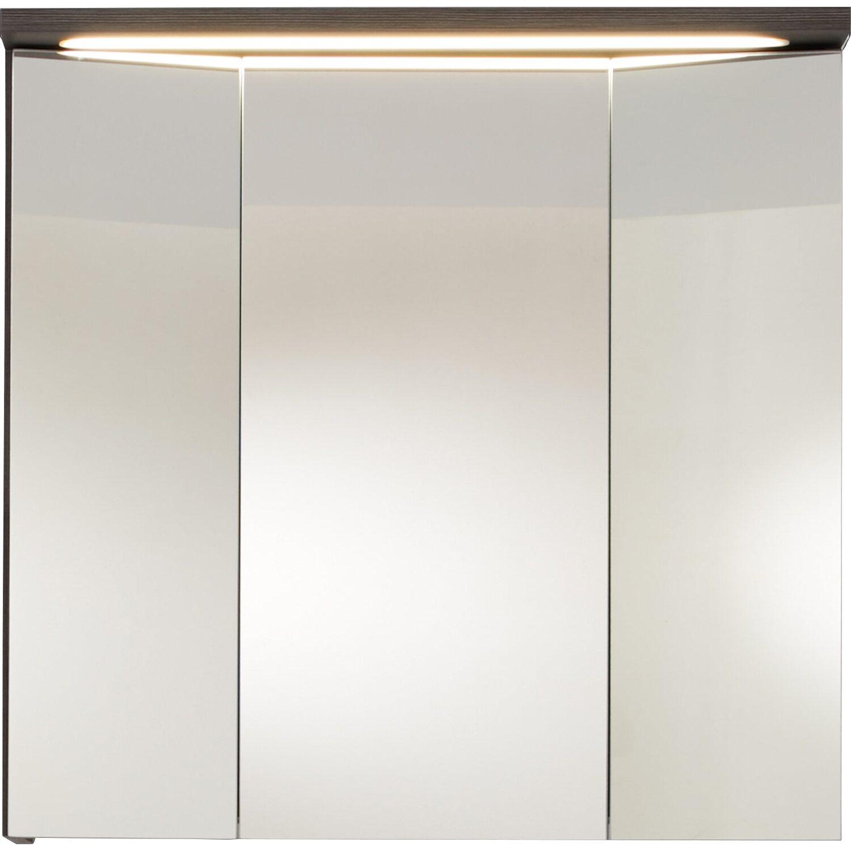 Spiegelschrank inkl. Beleuchtung Adamo 75 cm Rauchsilber EEK: A-A++