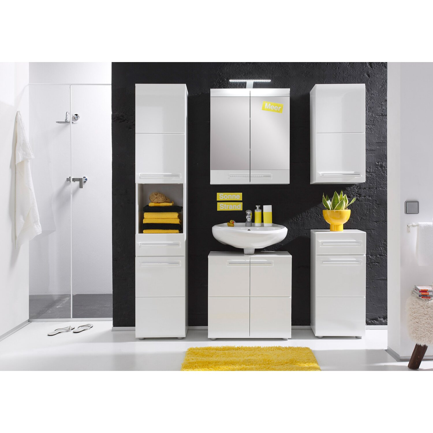 spiegelschrank bora bad 60 cm x 71 cm x 15 cm wei hochglanz kaufen bei obi. Black Bedroom Furniture Sets. Home Design Ideas
