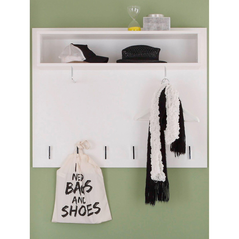 Garderobenpaneel derby wei 100 cm x 80 cm x 22 cm kaufen for Garderobenpaneel 80 cm