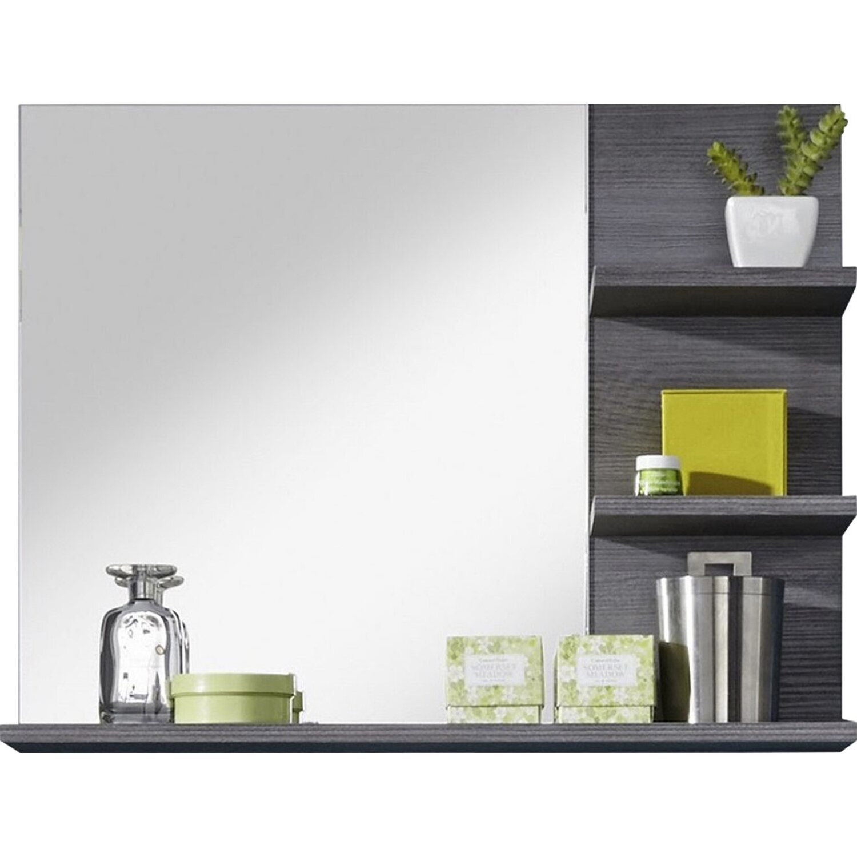 Spiegel mit Ablage Miami/Maine Bad Rauchsilber Weiß 72 cm x 57 cm x ...