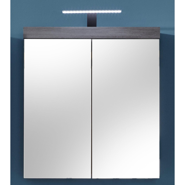 spiegelschrank inkl beleuchtung miami maine 72 cm wei rauchsilber kaufen bei obi. Black Bedroom Furniture Sets. Home Design Ideas