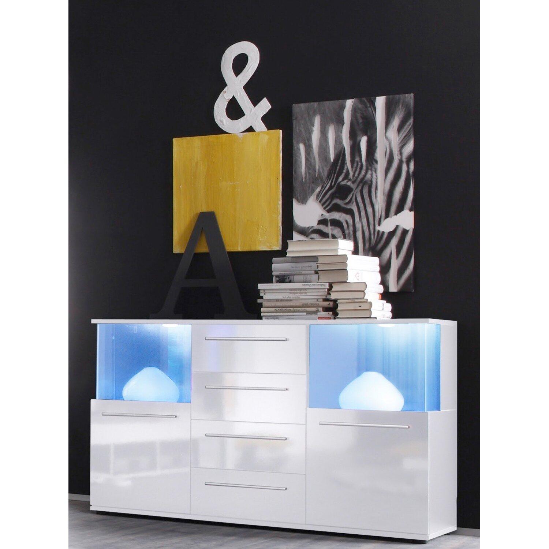 Sideboard Mit Beleuchtung | Sideboard Mit Beleuchtung Punch 82 Cm X 141 5 Cm X 40 Cm Weiss Eek A