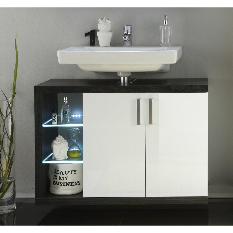 waschbeckenunterschrank sunrise 90 cm wei rauchsilber kaufen bei obi. Black Bedroom Furniture Sets. Home Design Ideas