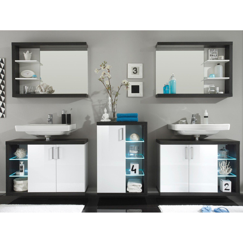 stand badm bel set sunrise wei rauchsilber 5 teilig. Black Bedroom Furniture Sets. Home Design Ideas
