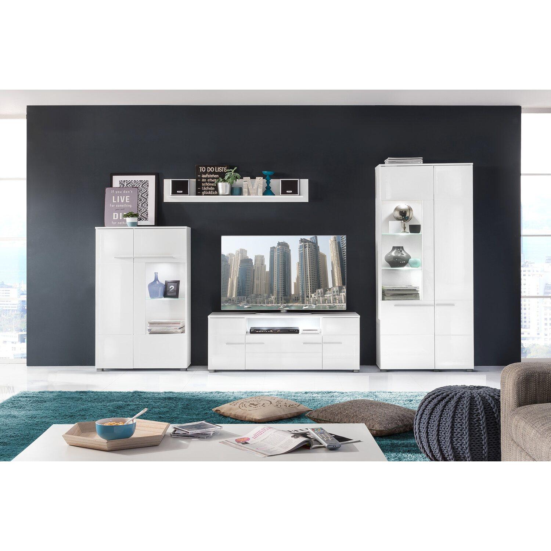 tv element und wandboard vision wei hochglanz kaufen bei obi. Black Bedroom Furniture Sets. Home Design Ideas