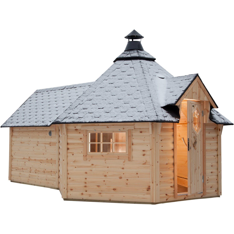 wolff finnhaus grillkota de luxe mit sauna anbau 426 cm x. Black Bedroom Furniture Sets. Home Design Ideas