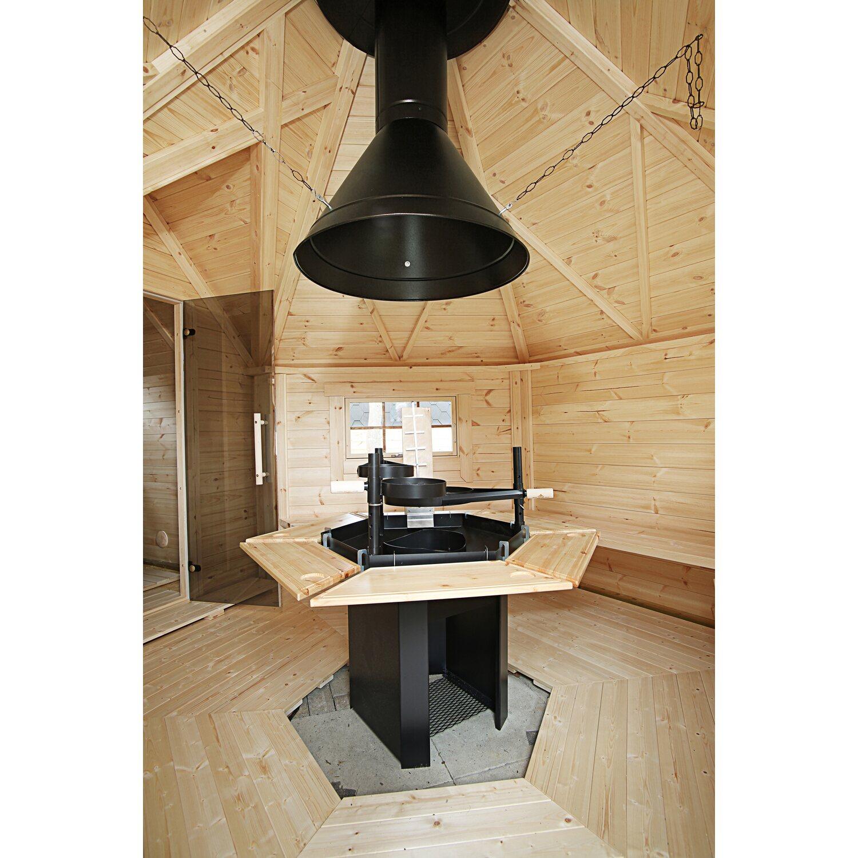 wolff finnhaus grillkota de luxe mit sauna anbau b x t. Black Bedroom Furniture Sets. Home Design Ideas