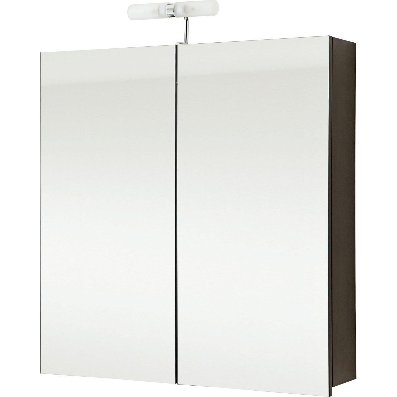 Zimmertüren anthrazit obi  OBI Spiegelschrank EEK: D Santos 75 cm Anthrazit kaufen bei OBI