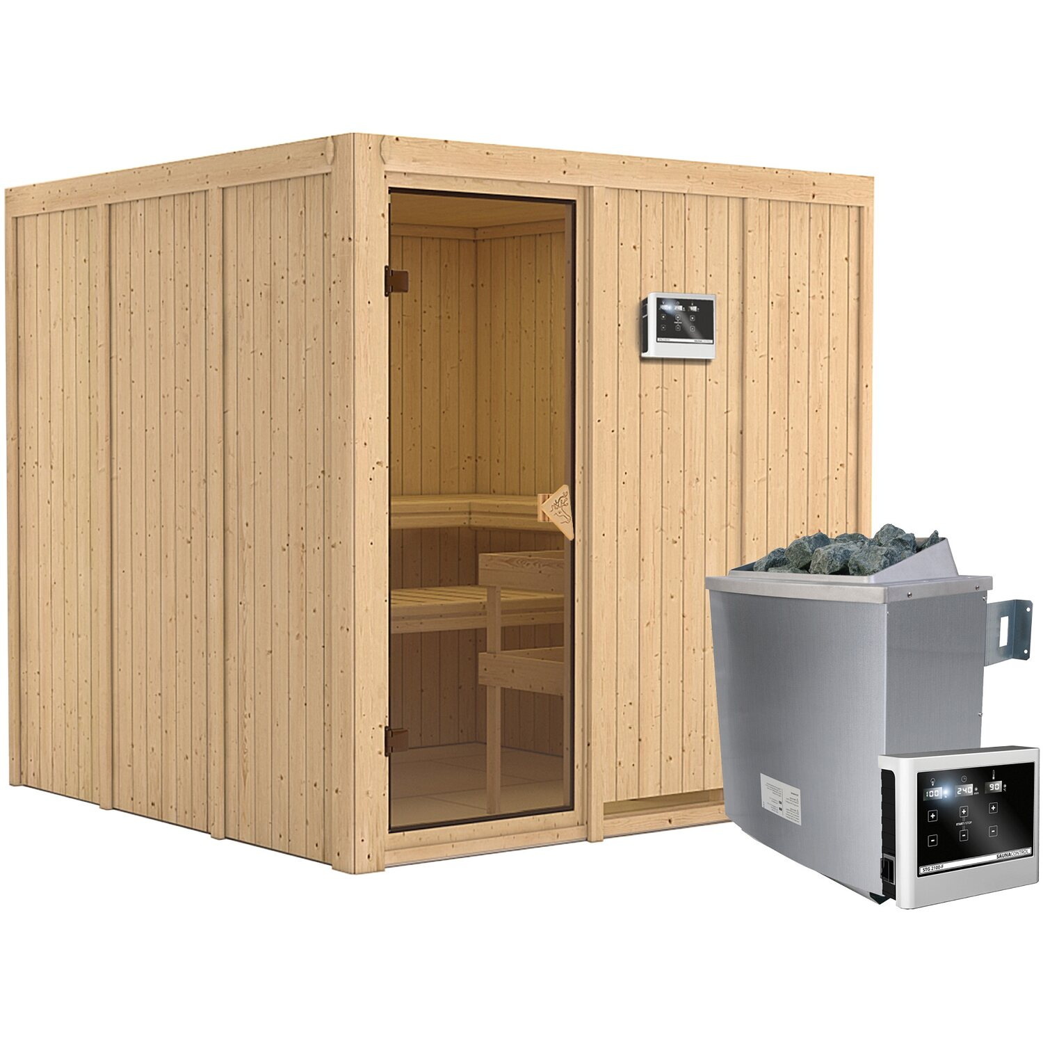 karibu sauna rokko ofen mit exte strg bluetooth. Black Bedroom Furniture Sets. Home Design Ideas