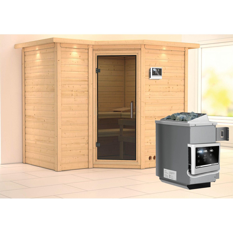 karibu sauna lina ofen mit ext strg bluetooth lautsprecher zubeh r graphit kaufen bei obi. Black Bedroom Furniture Sets. Home Design Ideas