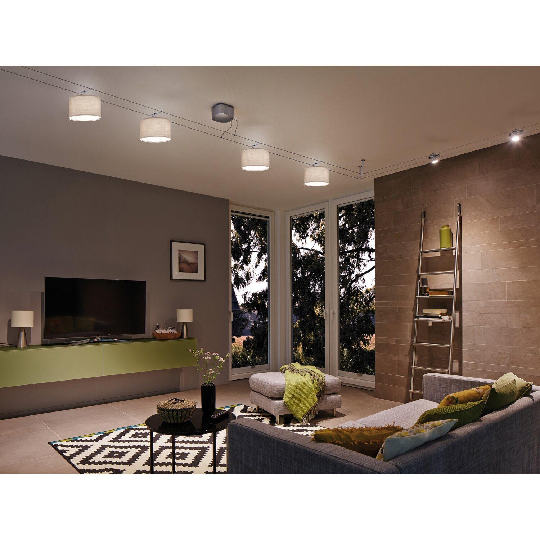 paulmann urail lampenschirm decosystems tessa 25 5 cm hellgrau kaufen bei obi. Black Bedroom Furniture Sets. Home Design Ideas