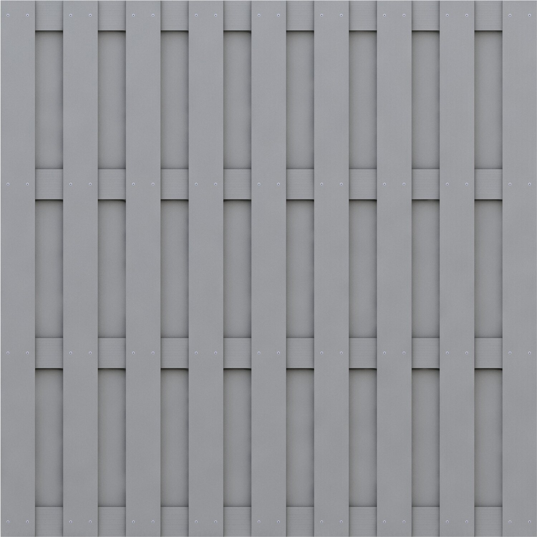 sichtschutzzaun element jumbo wpc grau 179 cm x 179 cm kaufen bei obi. Black Bedroom Furniture Sets. Home Design Ideas