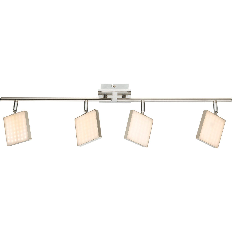 Globo LED-Spot 4er BRAVA Nickel matt EEK: A
