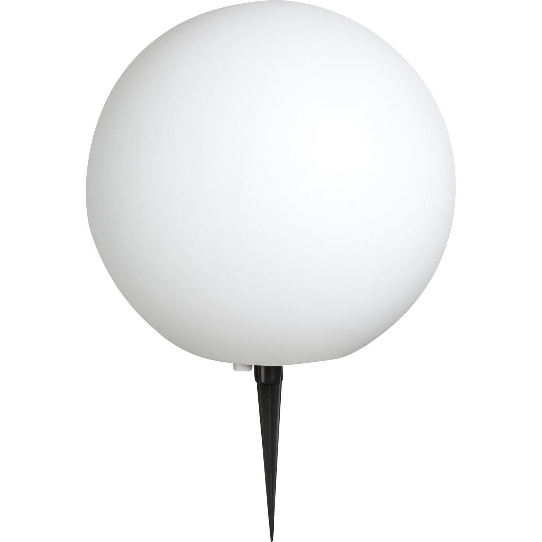 Globo Außenkugelleuchte mit Erdspieß TOULA Kunststoff Weiß EEK: E-A++   Lampen > Tischleuchten > Kugelleuchten   Kunststoff   Globo