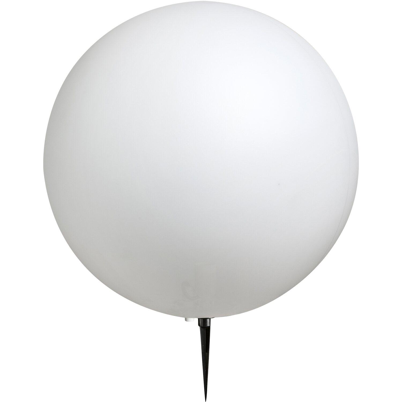 Globo Außen-Kugelleuchte mit Erdspieß TOULA Kunststoff Weiß EEK: E-A++   Lampen > Tischleuchten > Kugelleuchten   Weiß   Globo
