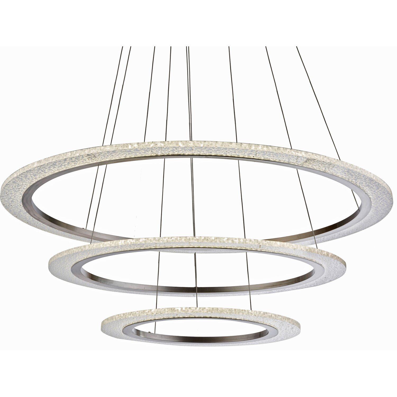 globo led pendelleuchte klaus nickel matt eek a kaufen bei obi. Black Bedroom Furniture Sets. Home Design Ideas
