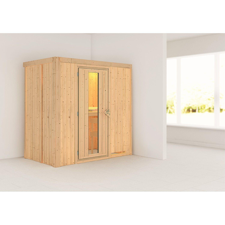 Karibu Sauna Vera Mit Fronteinstieg Holz Glastur Kaufen Bei Obi