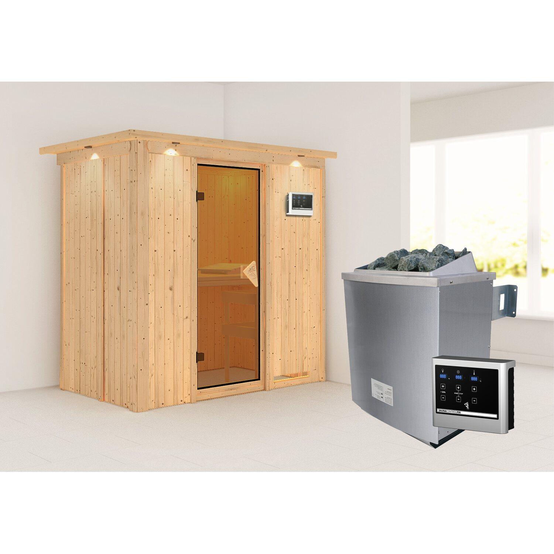 karibu sauna variado ofen ext strg easy glast r satiniert kaufen bei obi. Black Bedroom Furniture Sets. Home Design Ideas
