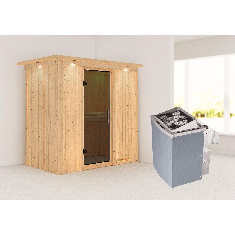 karibu sauna variado mit ganzglast r ofen mit eingeb steuerung fronteinst kaufen bei obi. Black Bedroom Furniture Sets. Home Design Ideas