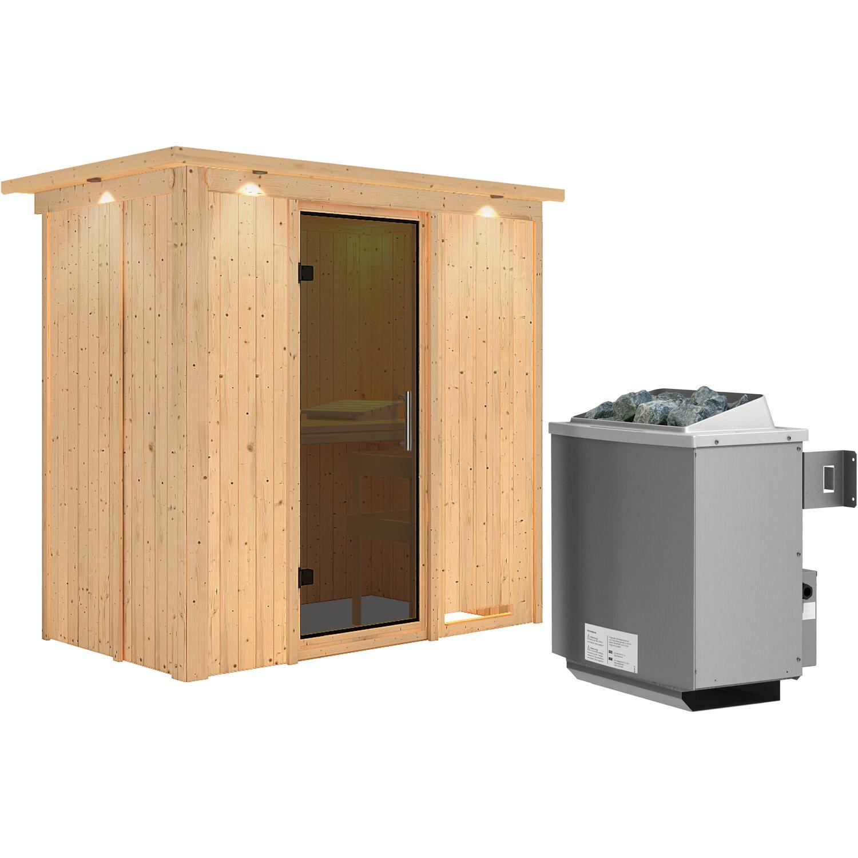 karibu sauna variado mit ganzglast r ofen mit eingebauter steuerung fronteinst kaufen bei obi. Black Bedroom Furniture Sets. Home Design Ideas