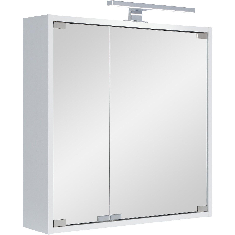 Spiegelschrank LED Eco I 60 cm x 60 cm x 14,5 cm Weiß EEK: A kaufen ...