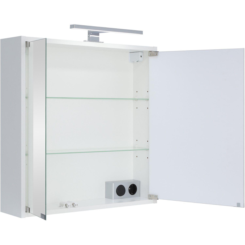 Fabulous Spiegelschrank LED Eco I 60 cm x 60 cm x 14,5 cm Weiß EEK: A TR58