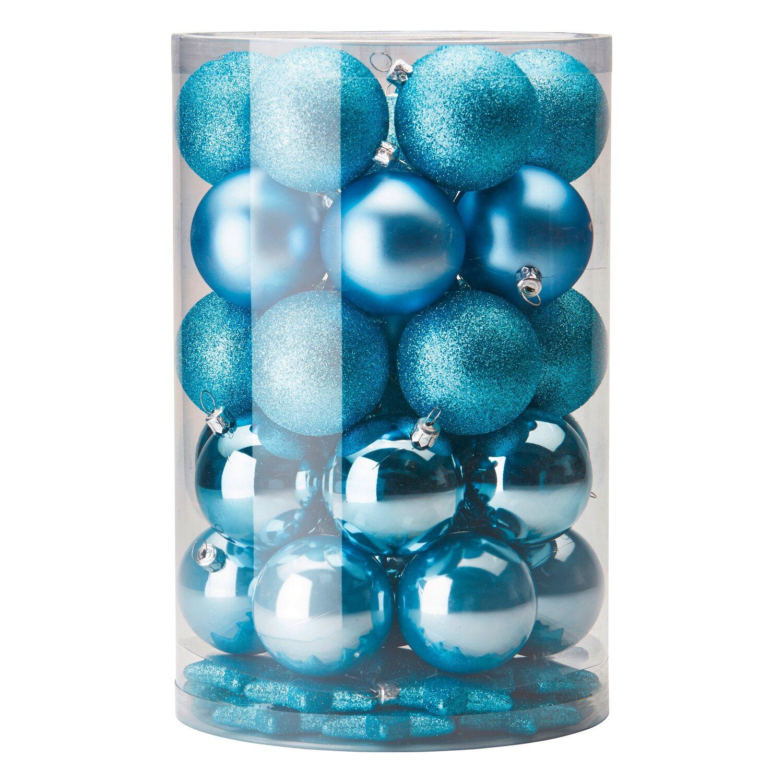 Baumschmuck Set 50 Teilig Eisblau Kaufen Bei Obi