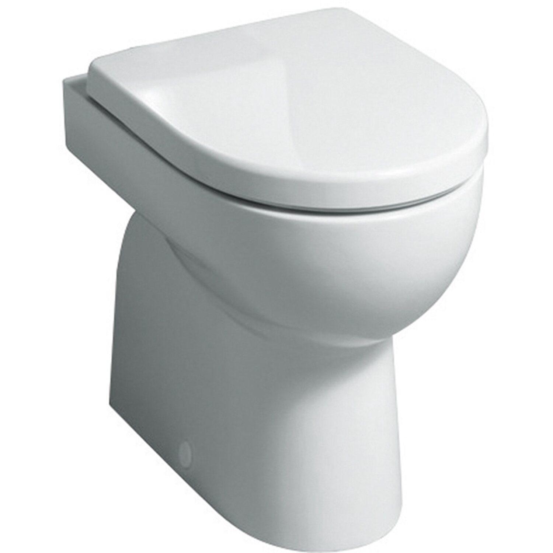 Keramag Stand-WC Renova Nr.1 Tiefspüler Abgang innen senkrecht Weiß