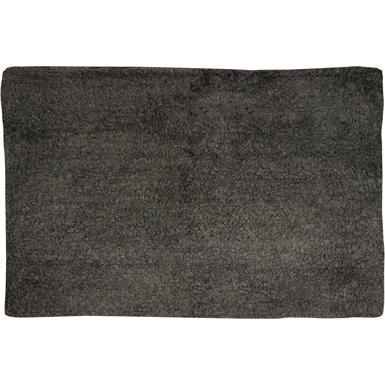 Badteppich Baumwolle 70 Cm X 45 Cm Anthrazit Kaufen Bei Obi