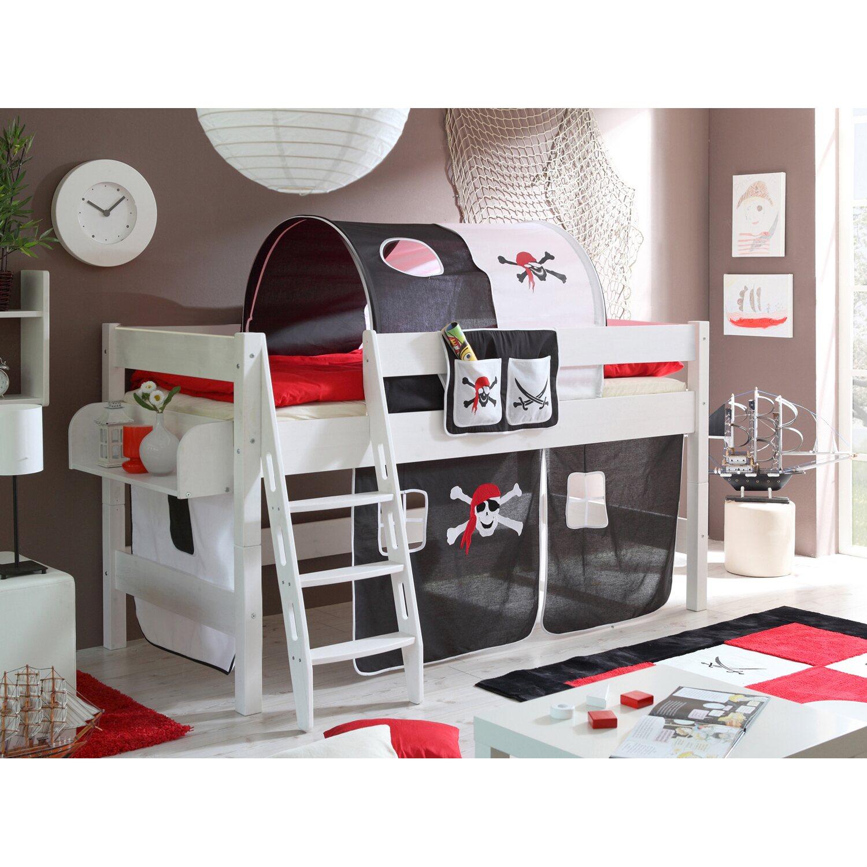 hochbett kenny kiefer pirat schwarz wei kaufen bei obi. Black Bedroom Furniture Sets. Home Design Ideas