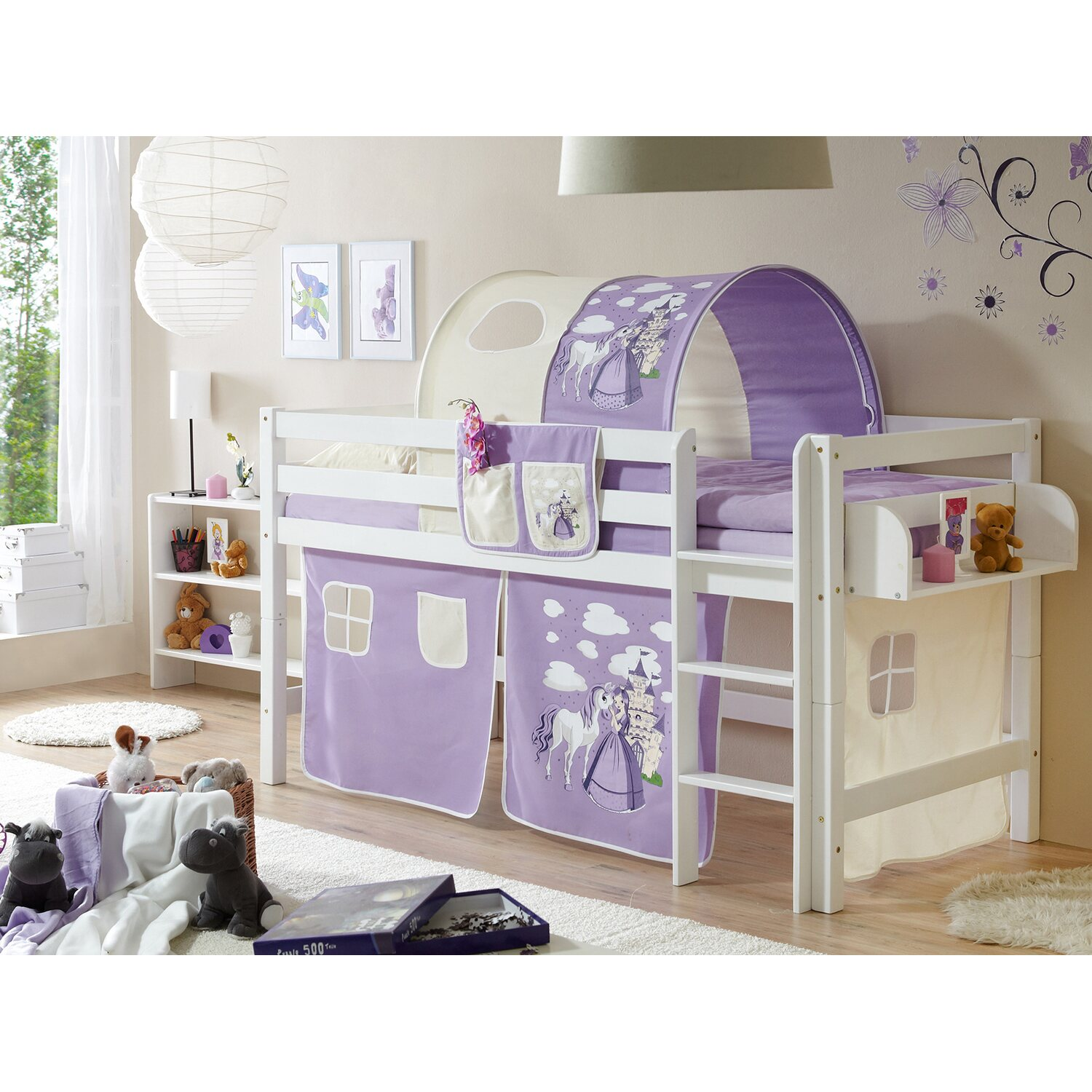 hochbett timmy buche wei horse lila kaufen bei obi. Black Bedroom Furniture Sets. Home Design Ideas