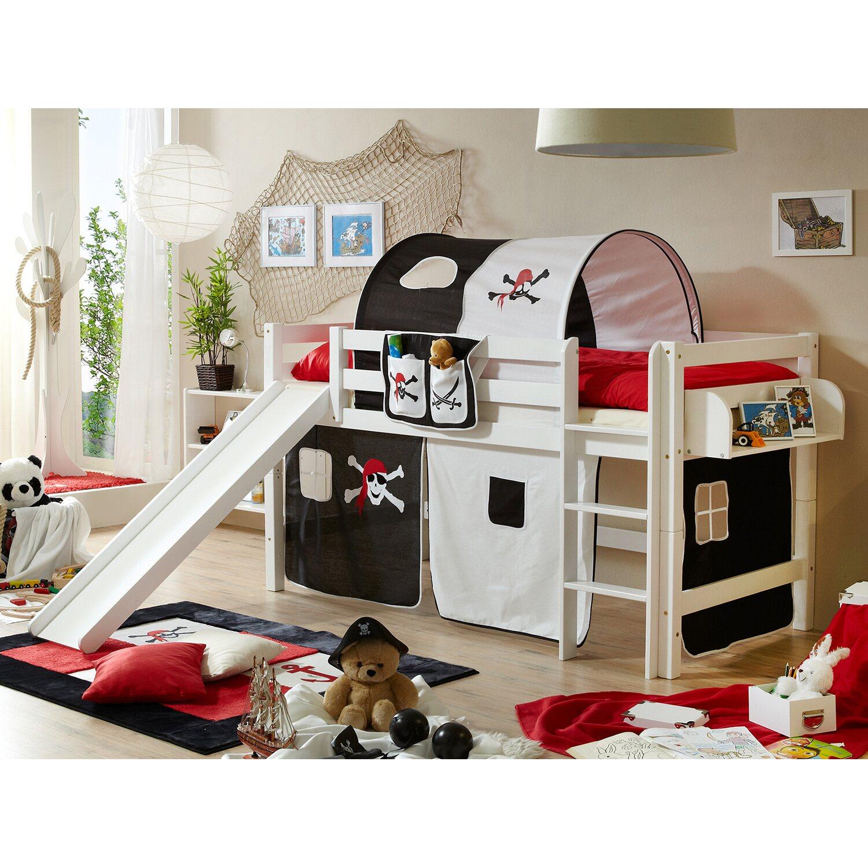 hochbett mit bopita combiflex hochbett mit leiter mit bden und tren stuva flja wei hochbett. Black Bedroom Furniture Sets. Home Design Ideas
