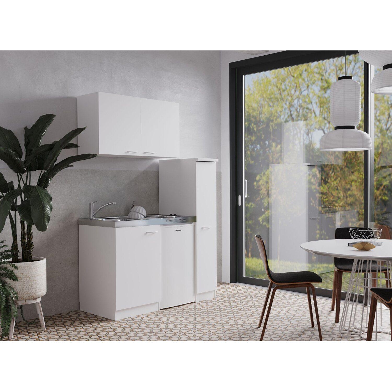 Respekta Miniküche MK130WOS 130 cm Weiß kaufen bei OBI